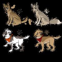more dog adopts {closed} by Arooooo