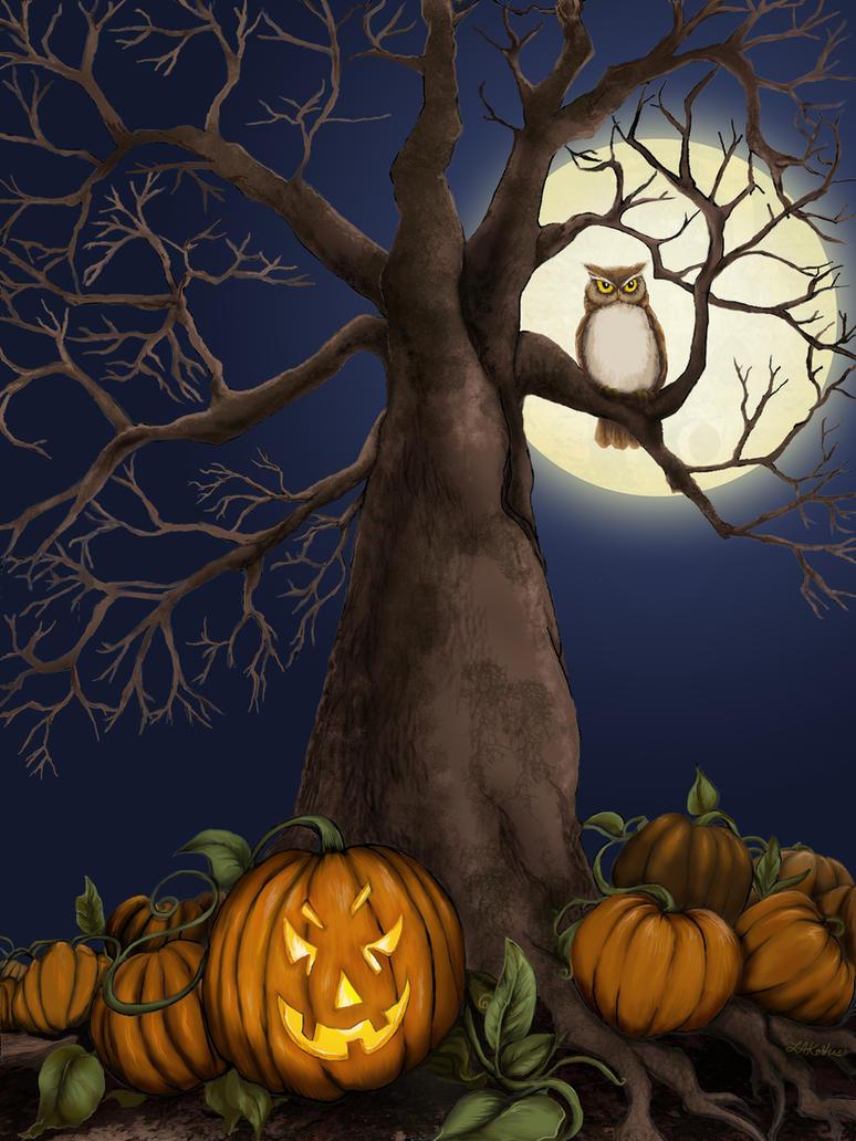 Halloween Tree by LeeAnneKortus