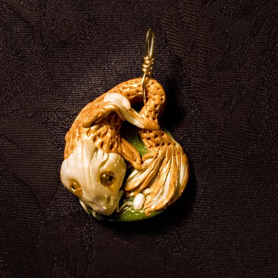 Koi Fish Pendant by LeeAnneKortus