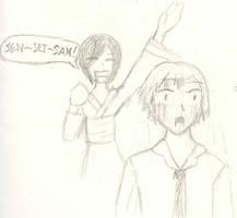 Mika and Sensei San by Jurodan