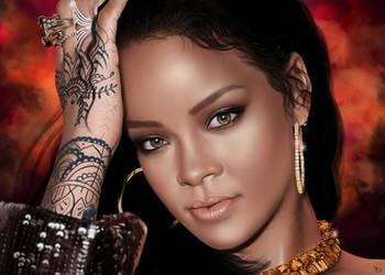 Rihanna by vynjard