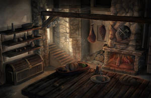 Medieval kitchen by lukkar