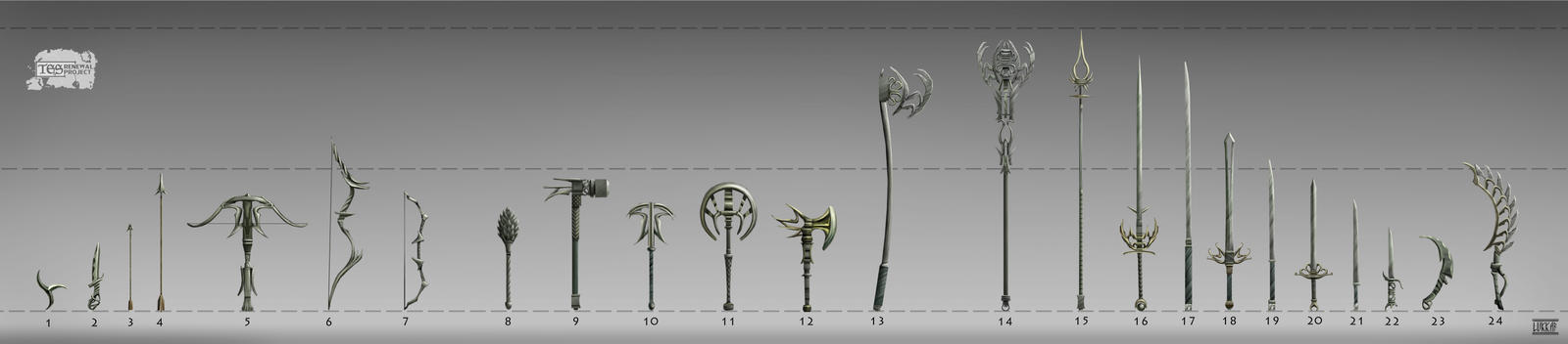 Admantium weapons set by lukkar