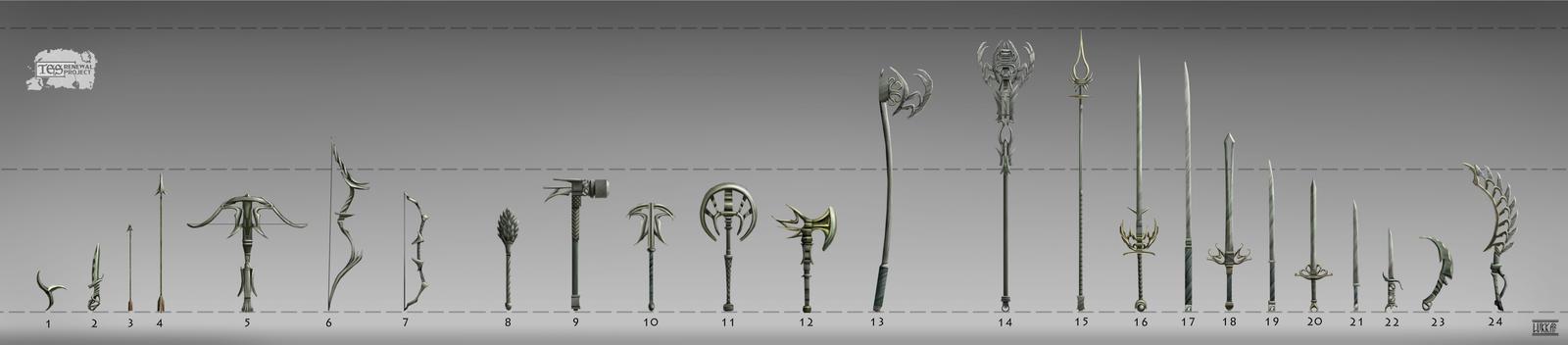 Admantium weapons set by lukkar