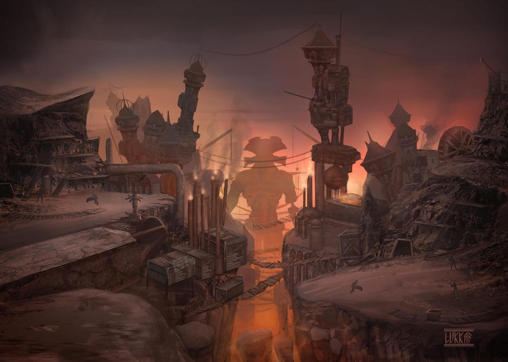 Dagoth Ur - Mine site by lukkar