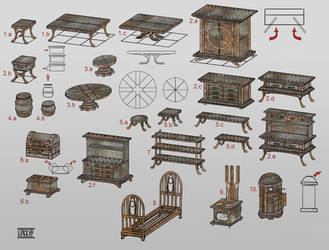 Dwemer furnitures by lukkar
