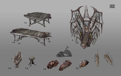 Ashlanders/poor Redoran furnitures by lukkar