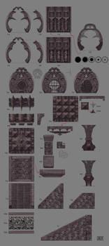 Deadric architecture parts 01