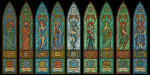 The Nine Divines - stained glass