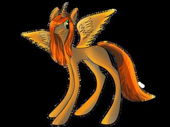 Fire pony by Hazzelz