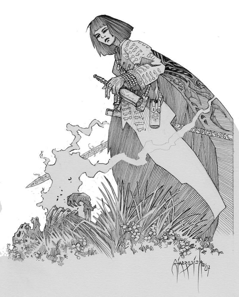 Sabriel Concept Sketch by giadrosich