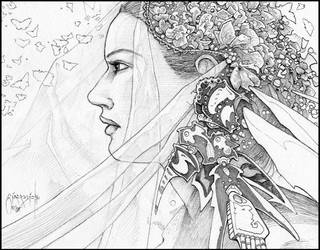 In the Twinkling of an Eye: WiP Finished Pencil by giadrosich