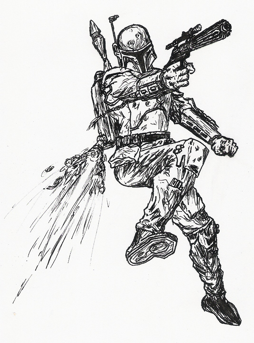 Coloriage jango fett star wars for Jango fett coloring pages