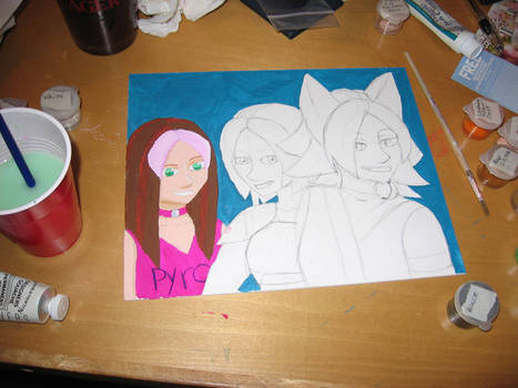 Ashleys and Starla PaintingWIP