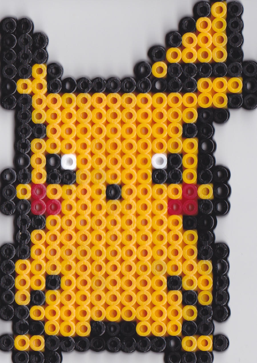 Perler Pikachu by christianna93