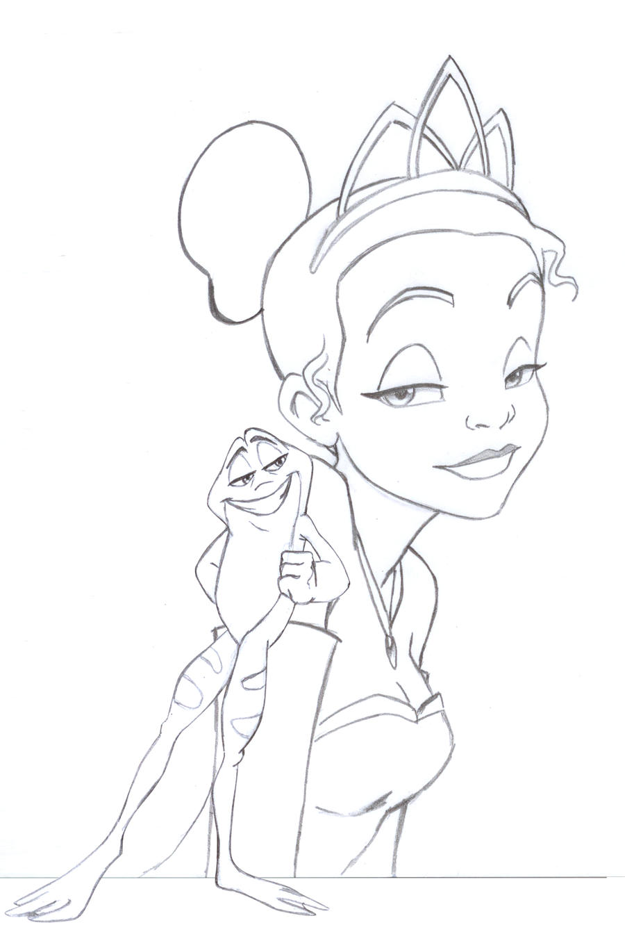 the princess and the frog by Ericorion