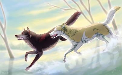 Run, Run With Winter Spirit by t1sk1jukka