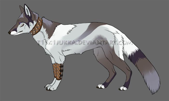fox character flatsale by t1sk1jukka