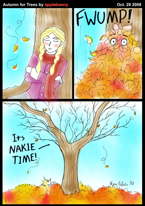 Autumn for Trees by applebunny