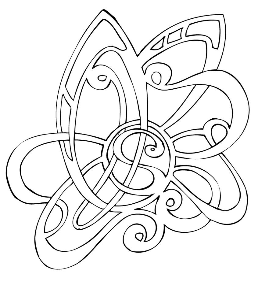 Nouveau tattoo by shade01 on deviantart for Art nouveau shapes