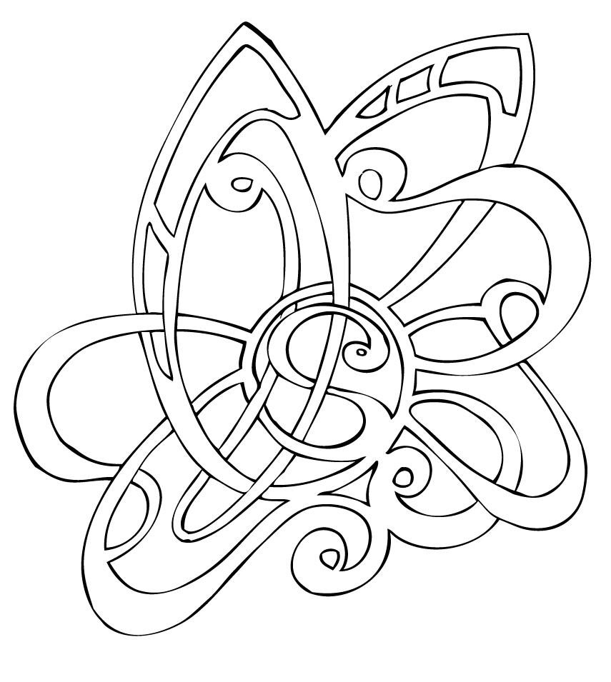 Line Art Earrings : Nouveau tattoo by shade on deviantart