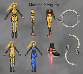Rikku Machina Navigator by Ethanael