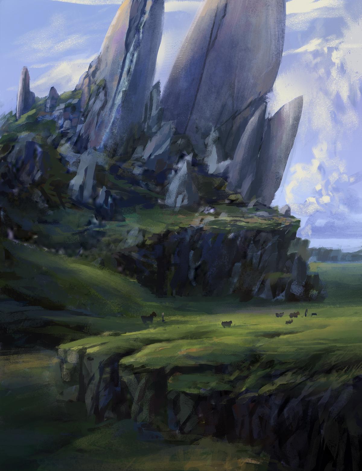 Rock Hills by KyTranArt