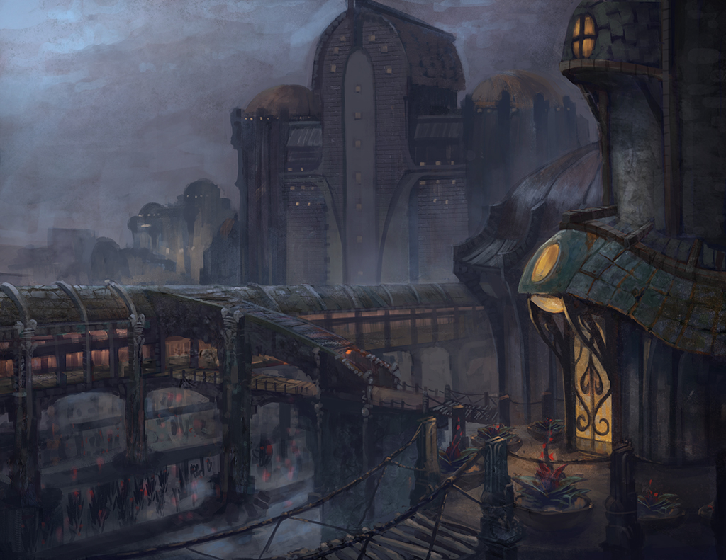 Victorian House Drawings Swamp City On Stilts By Kytranart On Deviantart