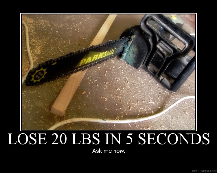 Lose 20 pounds in 5 Seconds by Balmung6