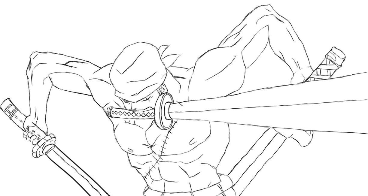 One Piece Lineart : Lineart roronoa zoro by supersageto on deviantart