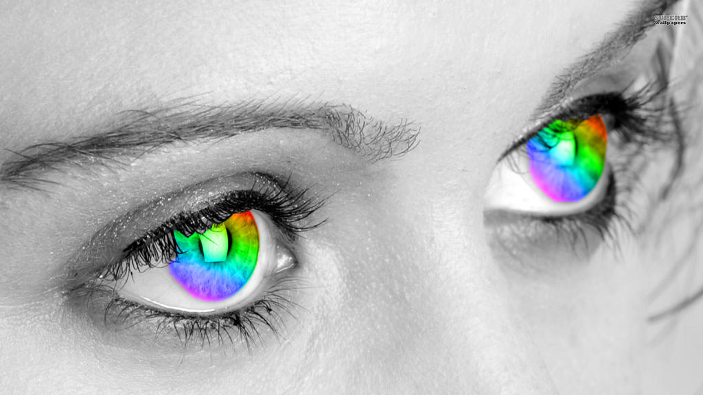 Image Gallery rainbow eyes