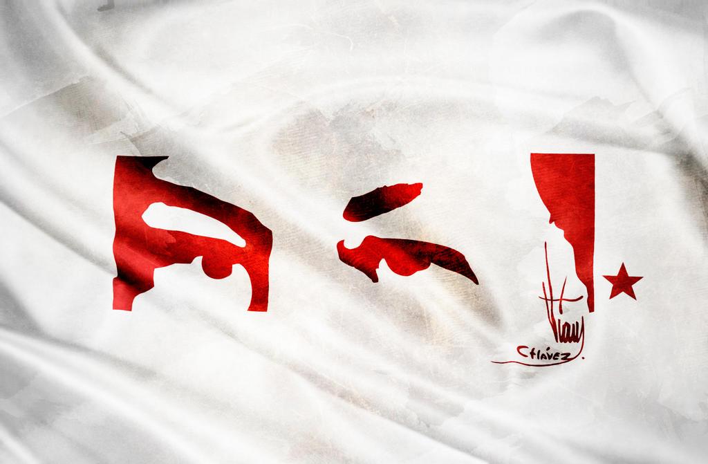 Venezuela Simbolo Bandera Mirada de Hugo Chavez F by paundpro