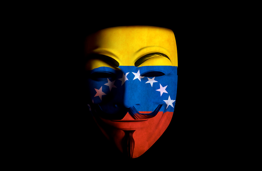Anonymous Venezuela Mask Front by paundpro on DeviantArt
