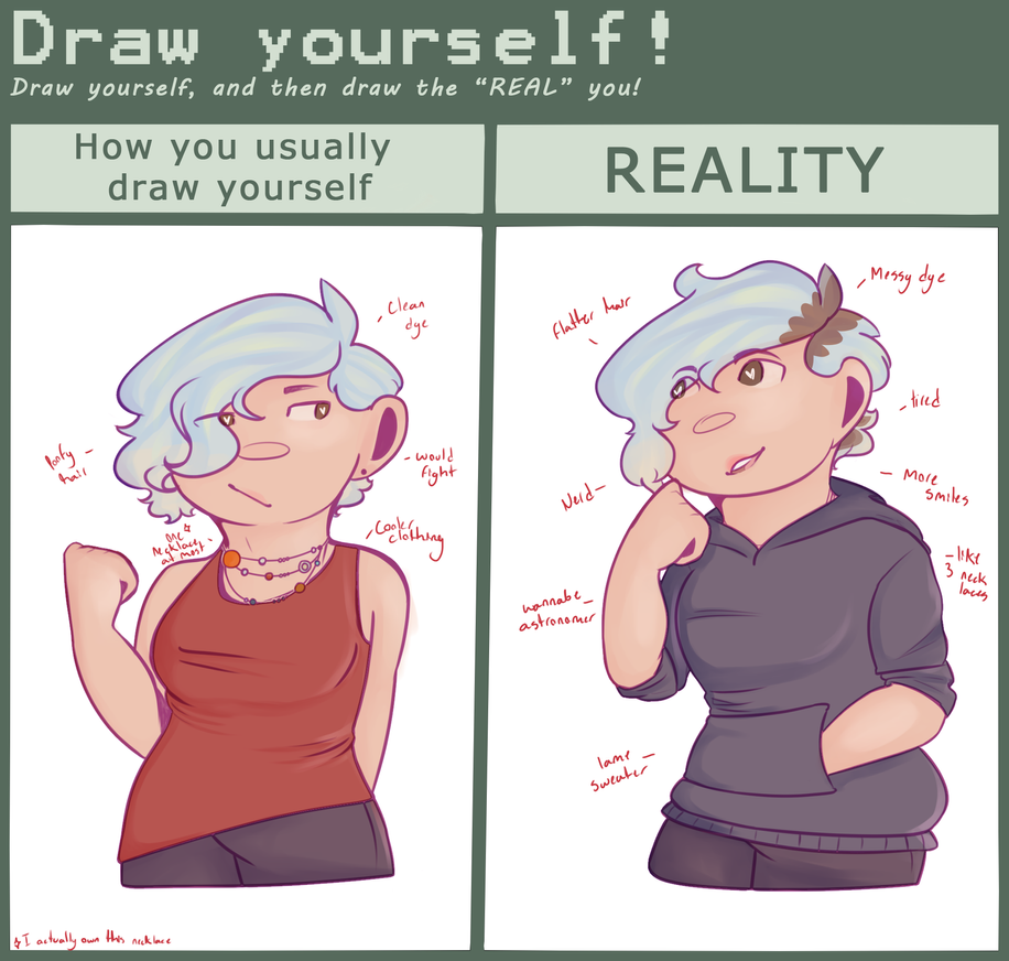 Draw Yourself Meme Irl Vs Online By Pixence On Deviantart