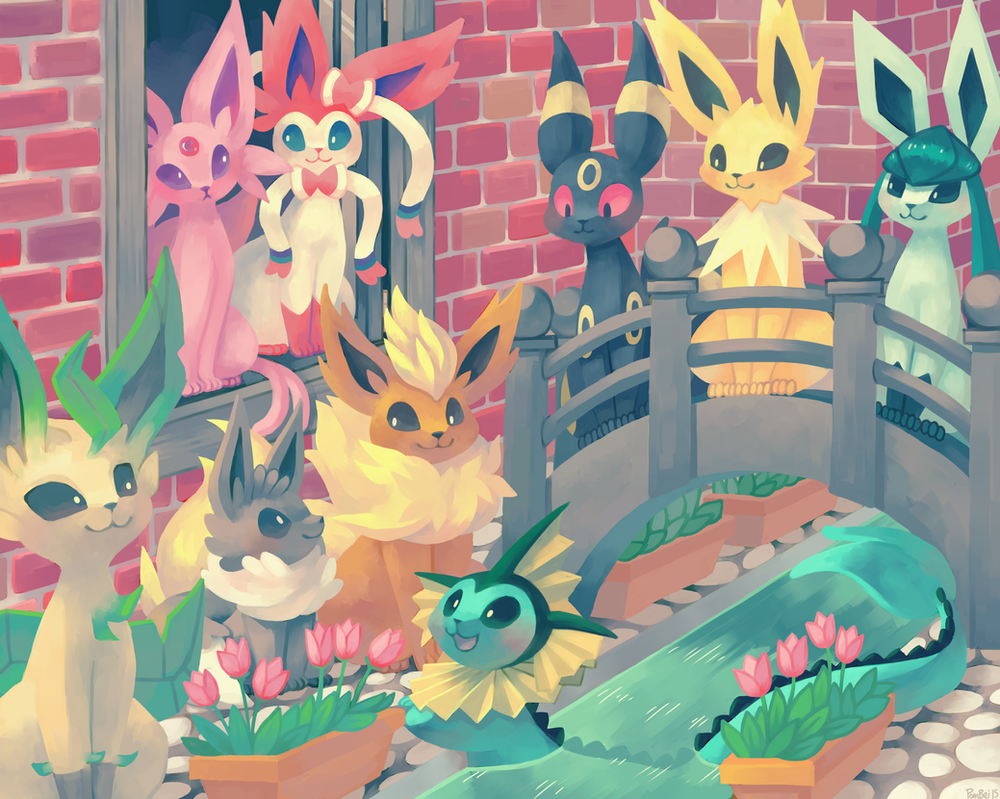Eeveelutions by Pombei