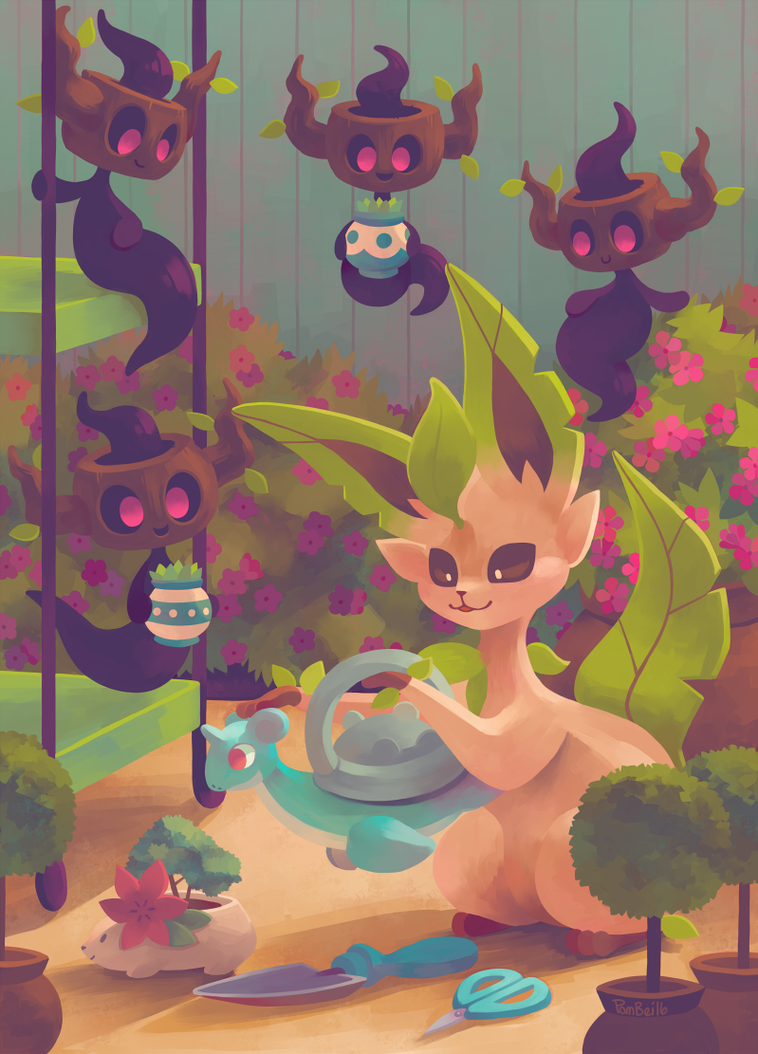 Eevee House - Leafeon by Pombei