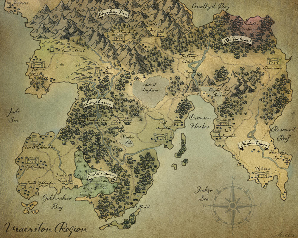 Fantasy Map - Maerston Region by Melissajp