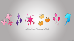 My Little Pony: Friendship Is Magic Wallpaper by MrAlienBrony