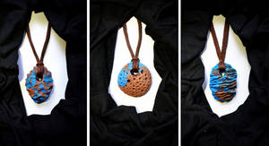 colous of the earth clay necklaces