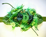 green initial bracelet