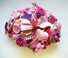 Pink ''Y'' Initial Brooch by RibbonsandClay