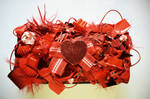Red heart clutch bag by RibbonsandClay