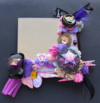 Shades of purple decorated mirror