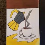 coffee drawing!!