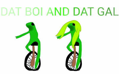 DAT BOI AND GAL by EmoPrinceesCreep
