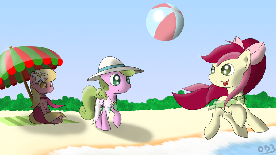 Flower trio at the beach by mmtOB3