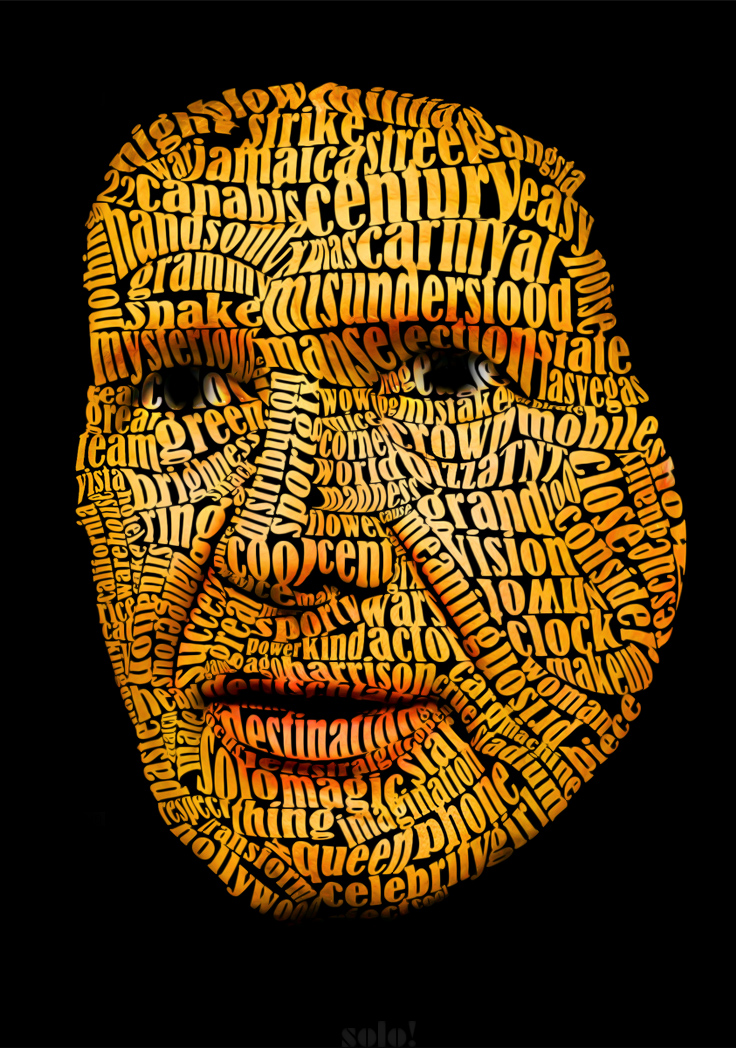 Harrison Ford Text Art by sologfx on DeviantArt