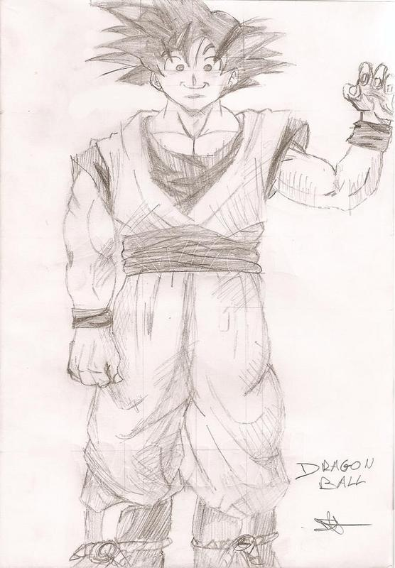 how to draw kid goku. re: Dragonball