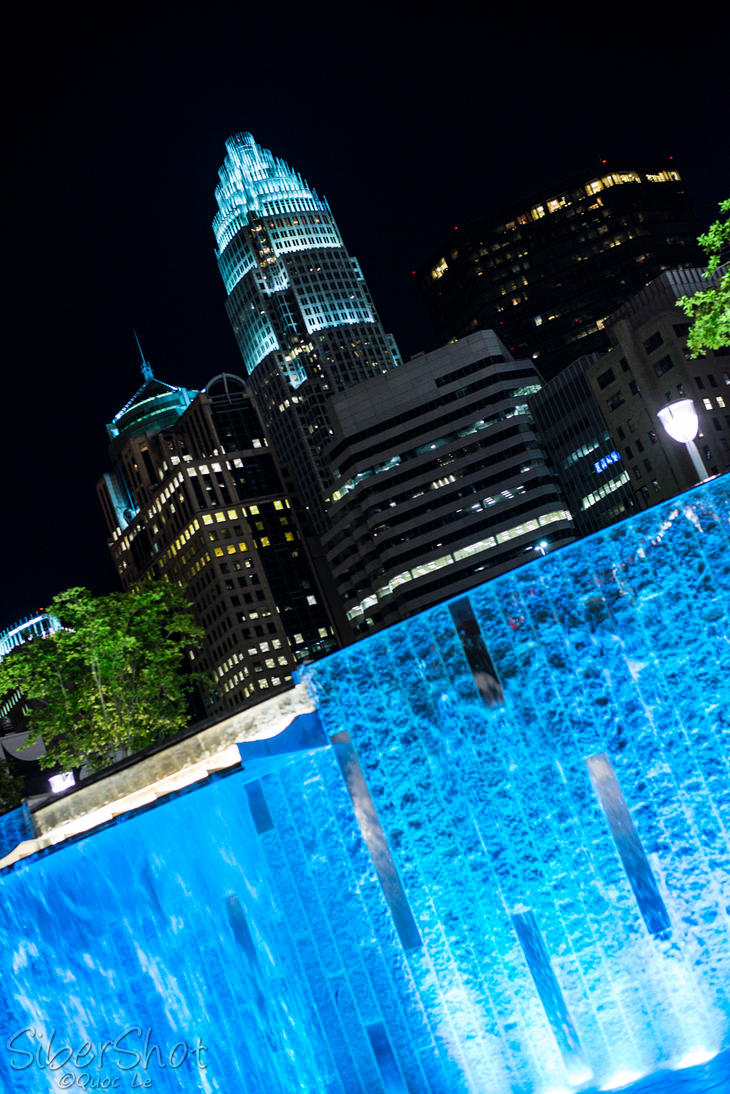 A view from Romare Bearden Park by sibersan