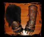 leather bracers bear paws Berserks